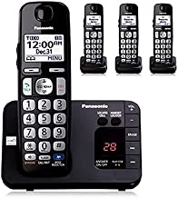 $84 » Panasonic KX-TGE234B DECT 6.0 Amplified Handset Volume Enhanced Noise Reduction Talking Caller ID Locate Cell Cordless Tel...