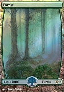 Mtg Forest x4 *FOIL Full Art Zendikar Rising Various*
