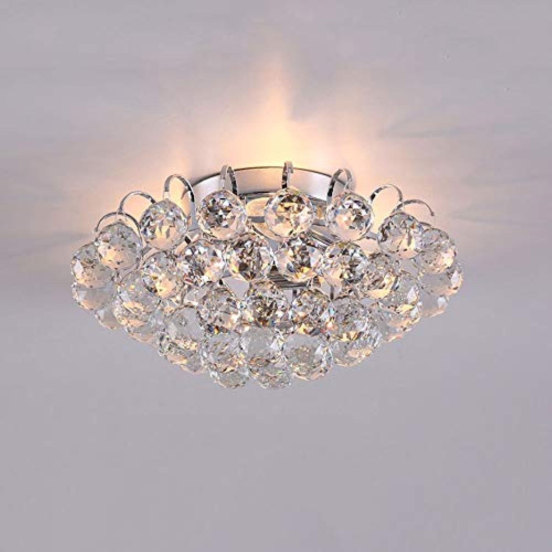 Hdmy 30 CM Durchmesser Luxus kristall wohnzimmer lampe mode Kristall deckenleuchte K9 kristall lampe schlafzimmer lampe Moderne Deckenleuchte (Farbe   Silber-Dia-30cm)