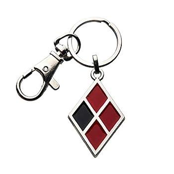 SalesOne LLC Birds of Prey Harley Quinn Diamond Logo Enamel Keychain