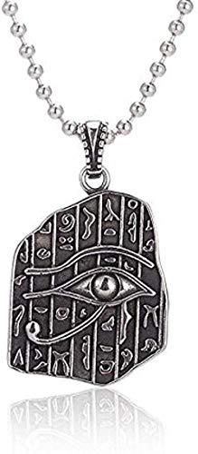 NONGYEYH co.,ltd Charm Eye Necklace Colgante Collar Color Dorado Collar Egipcio Joyería Antigua con Colgante Cadena de eslabones