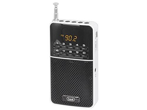 Trevi DR 7300 M Portátil Digital Negro, Color Blanco - Radio (3,5 mm, Litio, Portátil, LED, Digital, Am, FM)