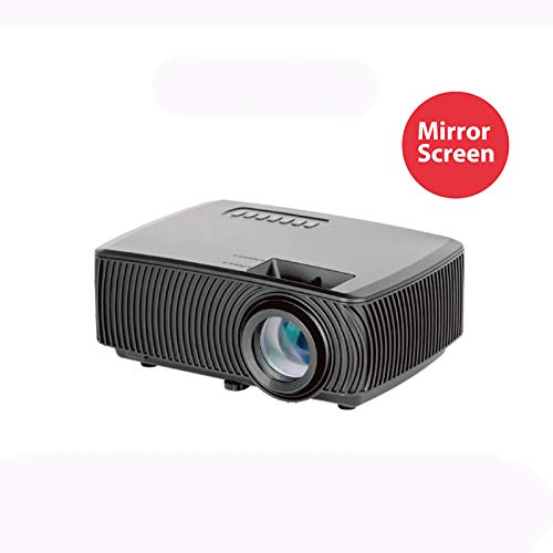 Téléphone Projecteur Filaire Stéréoscopique intégré Full HD 1080p Divertissement à Domicile, Fête, Jeux Compatible avec PS4, HDMI, AV et USB