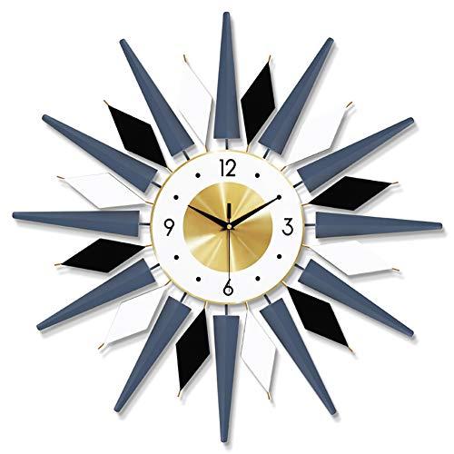 TDOYO Reloj Pared Moderno, Forma De Estrella De Explosión, Reloj Pared Moda - Metal - Reloj De Pared para El Hogar/la Cocina/la Oficina/la Escuela/Hotel, 60 * 60 CM,A