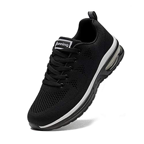 Alicegana Women's Athletic Sneakers Comfortable Walking Sport Breathable Running Air Cushion Casual Tennis Gym Shoes Black