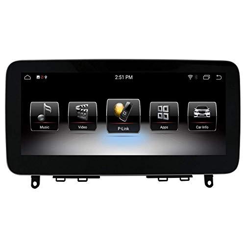 Pantalla táctil de navegación para automóvil con Android 9.0 de 10.25'para Mercedes Benz C CLK Class W204 2008 2009 2010, 4GB RAM Pantalla capacitiva de Alta resolución GPS Navegación para automóvil