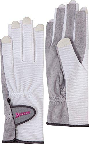 DUNLOP(ダンロップ) レディース テニス グローブ ネイルスルータイプ 両手セット 手のひら側穴なしタイプ SGG0740 ホワイト(003) S