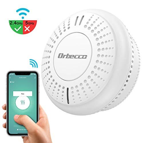 Orbecco Detectores de Humode Inteligente WiFi con Batería,