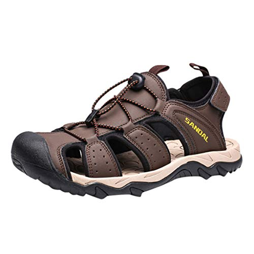 Find Discount Seaintheson Men's Casual Sandals,Summer Hollow Beach Non-Slip Wading Shoes Outdoor Wea...