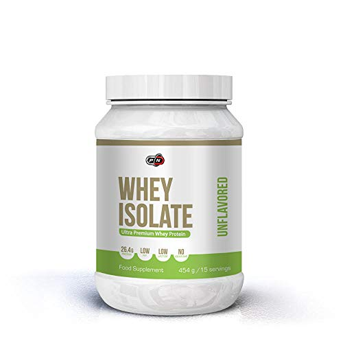 Pure Nutrition WHEY Isolate Protein Powder Shake Chocolate Unflavored|15 30 60 Servings|27g Protein 6g BCAA 5g Glutamine|Low Fat Sugar Gluten Lactose Free|Ultra Premium Muscle Building Supplement