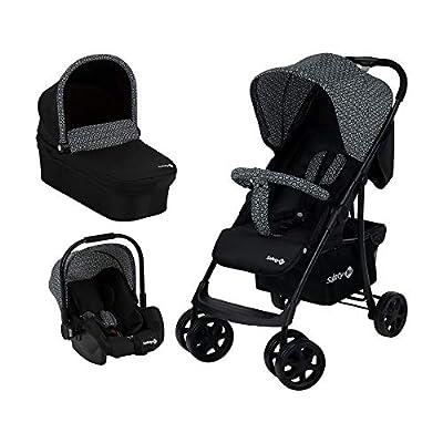 Safety 1st Cochecito Roadeo 3 en 1, Cochecito confort con capazo plegable, Grupo 0+, desde el nacimiento hasta los 4 años, Geometric