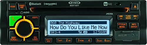 Jensen JHD36AB AM/FM/WB/CD/RBDS/USB/AUX-IN/App Ready/SiriusXM Ready/iPod & iPhone Ready/Bluetooth Stereo Radio, 12V DC