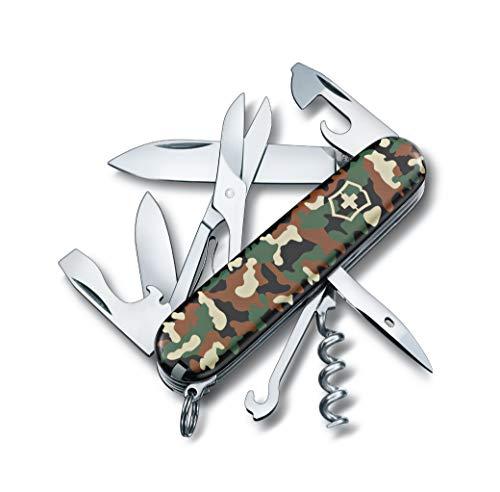 Victorinox Taschenmesser Climber (14 Funktionen, Schere, Mehrzweckhaken, Korkenzieher), camouflage