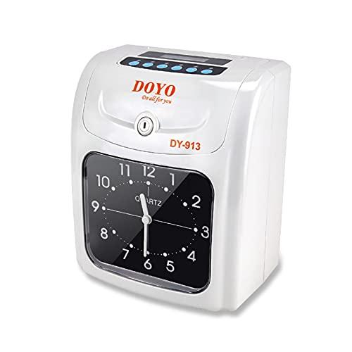 Reloj de Tiempo Máquina de Asistencia del botón de la Tarjeta de perforación con la batería incorporada con la conversión de impresión automática de Reloj automático Productos electrónicos de Oficina