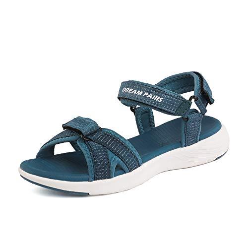 DREAM PAIRS Women's Athletic Sport Sandals Hiking Sandal Dark Blue Size 5 M US QDL19001L