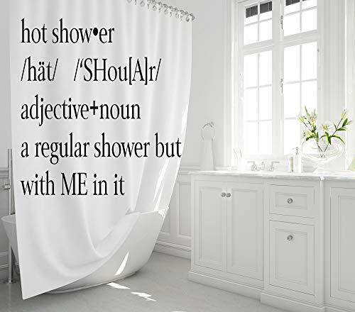 Ad4ssdu4 Leinen Duschvorhang Hot Shower Me In It Badeinlage Duschvorhang, lustiges Zitat Duschvorhang Badezimmer Geschenke