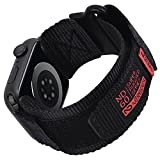 Nereides Compatible With Apple Watch Band, Rugged Nylon Sports Strap With Woven Loop Design For iWatch 42mm/44mm, Tough Replacement Band For Series 6/5/4/3/2/1/SE Men Women