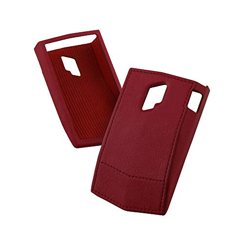 Leather Case for PLENUE V (Burgundy Red) / Shock Absorbing Cover Case, Anti-Slip Grip