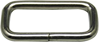 Generic Metal Silvery Rectangle Buckle 1