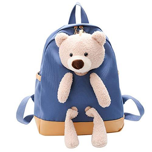 HB.YE School Backpack with Detachable Teddy Bear for Children, School Bag for Little Boy Girl 2-6 Years