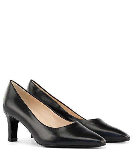 Peter Kaiser Manolo - Zapatos de tacón con plataforma, Negro (Schwarz (SCHWARZ CHEVRO 100 100)), 35.5