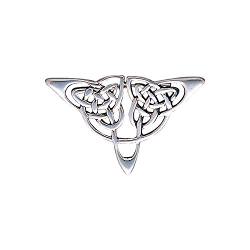 Jewelry Trends Celtic Triangle Knot Sterling Silver Brooch Pin