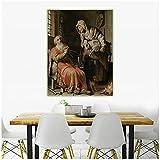 djnukd 《Tobit Acusando A Anna De Robar Al Niño》 Rembrandt Canvas Art Pintura Al Óleo Obra De Arte Decoración De Fondo De Pared Decoración del Hogar 50X70Cmx1 Sin Marco