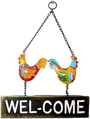 Home Decorative Handmade Wedding/Bithday Gift Hen Printed Welcome Wall Panel