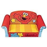 Marshmallow Furniture, Children's 2-in-1 Flip Open Foam Sofa, Sesame Street'S Elmo, by Spin Master, Multicolor