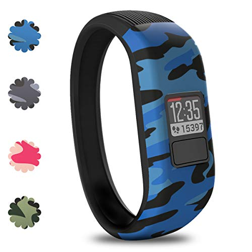 Vozehui Silicone Bands Compatible with Garmin Vivofit 3/Vivofit JR/Vivofit JR 2 , Soft Silicone Replacement Sport Wristbands for Kids Boys Girls,Small Large