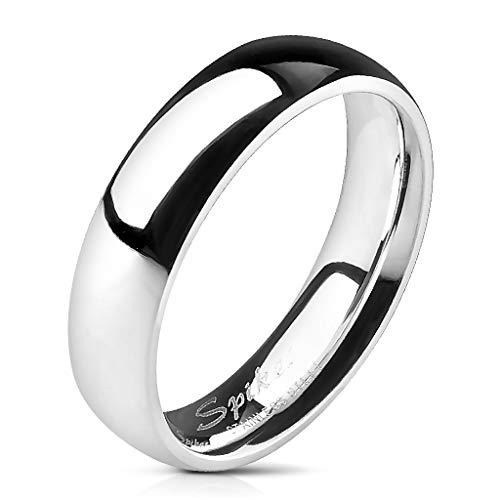 Tapsi´s Coolbodyart® Unisex Edelstahl Ring 5mm breit Silber Klassischer Ehering Hochglanz poliert 63 (20)