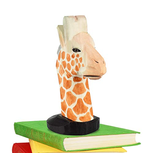 EMAGEREN Brillenhalter Tier Brillenhalterung Kinder Holz Brillenständer Sonnenbrillenhalter lustig Brillenablage für Schreibtisch, Dekorative Ständer, Wohnkultur und Geschenk (Giraffe)