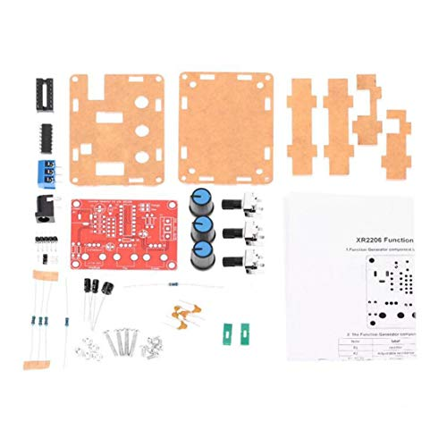 XR2206 Signal Funktionsgenerator Sinus Dreieck Rechteck Ausgang 1Hz-1MHz Hochpräzise Frequenz einstellbar Modul DIY - Rot