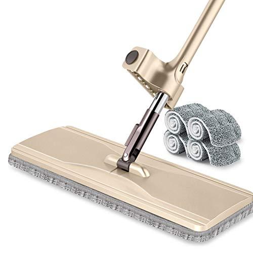 DIANZI mop handvrije vlakke mop-mop-mop-houten vloer met draaibare vlakke sleep, zelfpersende watersleeptouw 36 cm