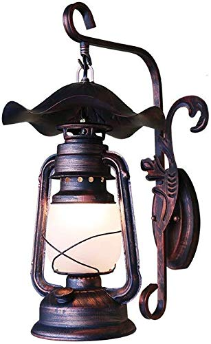 HJXSXHZ366 Retro Mini-Wandleuchte EIN Gute Beleuchtung Jahrgang Schmiedeeisen Wandleuchte Spur Laterne alt antike Petroleumlampe, Wandleuchte Korridor kreativer zier