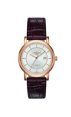 ROAMER Damen Analog Quarz Uhr mit Leder Armband 709844 49 17 07