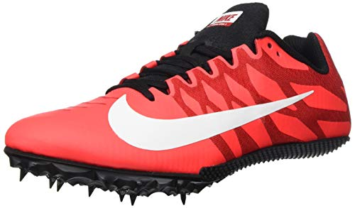 Nike Zoom Rival S 9, Scarpe da Corsa Unisex-Adulto, Laser Crimson/White-Black-University Red, 44.5 EU