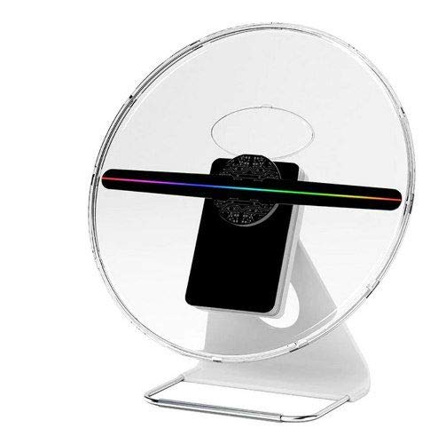 New Year Upgraded 30CM or 12 INCH 3D Hologram Fan Holographic Display Projector,IDISKK ORIGINALDESIGNED Photo and 512P HD Video Advertising Projector Fan for Shops Office Home
