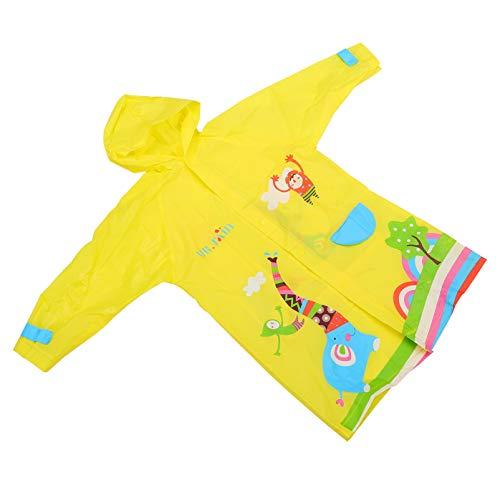 Casaco de chuva infantil BESPORTBLE, poncho, capa de chuva infantil, com capuz, agasalho para bebês, outono e inverno, roupas escolares para meninos e meninas GG (amarelo)