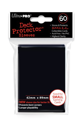 Ultra Pro Card Supplies Deck Protector Sleeves, Black, 60 Count