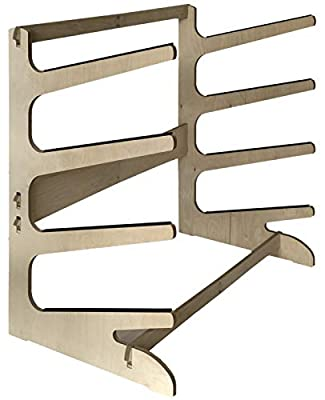 Steve's Rack Shack Premium Wooden Freestanding SUP Storage | Storage for Paddle Boards, Long Boards, Race Paddle Boards, SUP, (Freestanding; for use Indoors and Outdoors; Made in The USA) (4 Level)