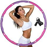 Hula Hoop zur Gewichtsreduktion, Reifen mit Schaumstoff Gewichten einstellbar