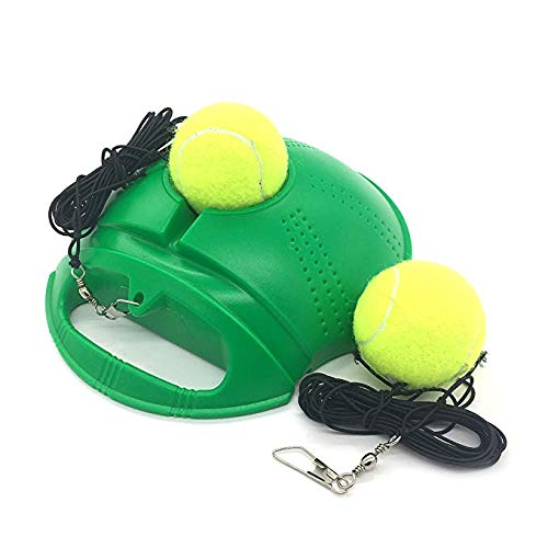 Top Tennis Trainer Rebound Ball  2020 Model  Solo Tennis Practice Trainer Gear  #1 Complete Tennis Training Exercise Ball Equipment Kit with 2 Return Elastic Strings 2 Balls amp Sturdy Base Green
