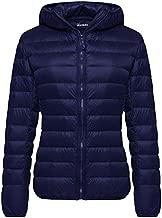 Wantdo Women's Ultra Light Down Jacket Packable Warm Coat Winter Navy Medium