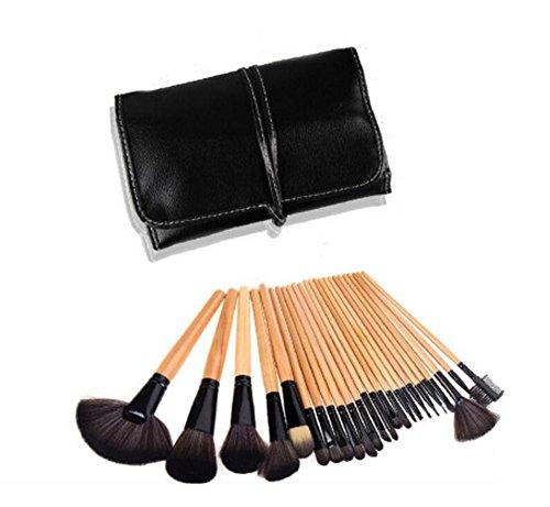 Vi.yo 24 Pcs Professionnel Ensemble de Brosses Makeup Premium Cosmetics Foundation Blush Kit de Brosse à Poudre(Brun)