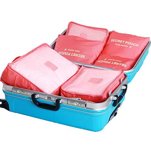 Dr. Storage トラベルポーチ 6点セット トラベル アレンジケース 収納ポーチ 大容量 防水 軽量 旅行/出張/整理用 衣類/靴/化粧品/洗面道具