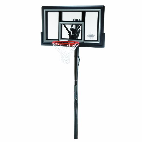 LIFETIME Lebenslange 1084 Höhe verstellbar in Ground Basketball System, 127 cm Bruchsichere Rückwand