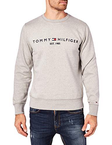 Tommy Hilfiger TOMMY LOGO SWEATSHIRT Sweatshirt Herren, Grau (Cloud Heather P9v), XX-Large (Herstellergröße:XXL)