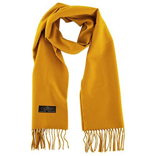 100% Cashmere Scarf Super Soft For Men And Women Warm Cozy Scarves Multiple Colors FHC Enterprize (Honey)