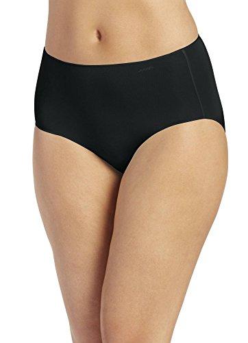 Jockey Women's Underwear No Panty Line Promise Tactel Hip Brief, black, 7